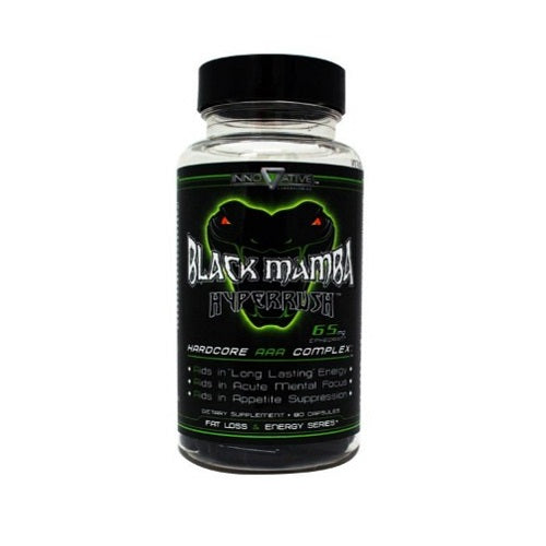 INNOVATIVE LABORATORIES BLACK MAMBA FAT BURNER, 90 CAPSULES