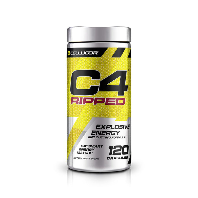 CELLUCOR C4 RIPPED EXPLOSIVE ENERGY , 120 CAPSULES.