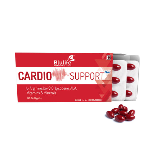 BLULIFE Cardio Support Plus,30 softgels.(arginine,coq10,ala)