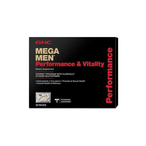 GNC MEGA MEN PERFORMANCE & VITALITY (30 PACKS)