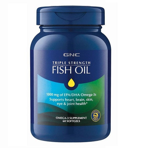 GNC Triple Strength Fish Oil - 1500 mg Fish Oil  - 60 Enteric Coated Softgels