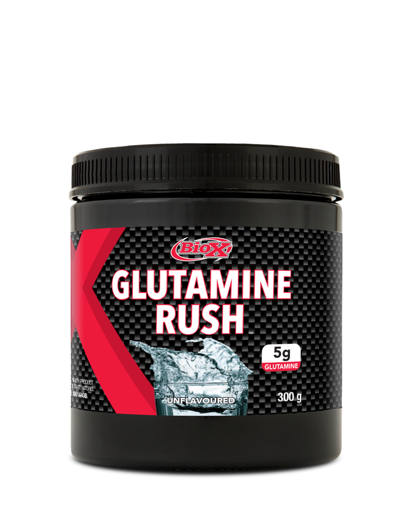 BIOX GLUTAMINE RUSH UNFLAVOURED , 300 GRAMS.