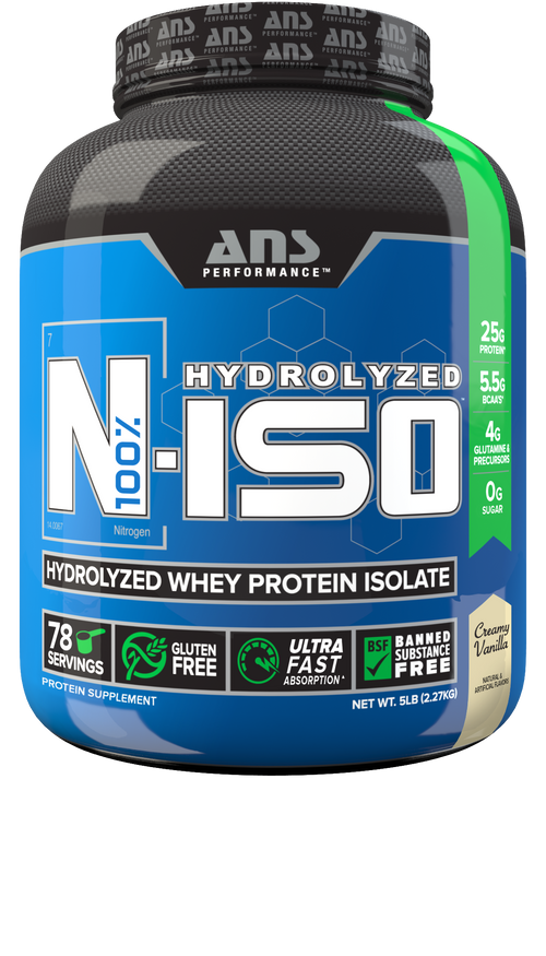 ANS PERFORMANCE N-ISO 100% PURE HYDROLYZED WHEY ISOLATE PROTEIN.(FREE SHAKER+SAMPLE)