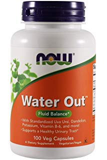 NOW, WATER OUT (100  Veg Capsules)