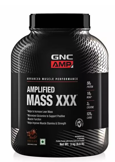 GNC AMP Amplified Mass XXX- 50g Protein,6.6 lbs, 3 kg(Chocolate)
