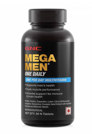 GNC Mega Men One Daily Multivitamin 60 Tablets.