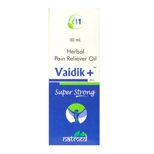 NATMED VAIDIK+ HERBAL PAIN RELIEVER OIL, 30 ML.(Pack of 3)