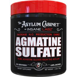 ASYLUM CABINET AGMATINE SULFATE,  30 SERVINGS.