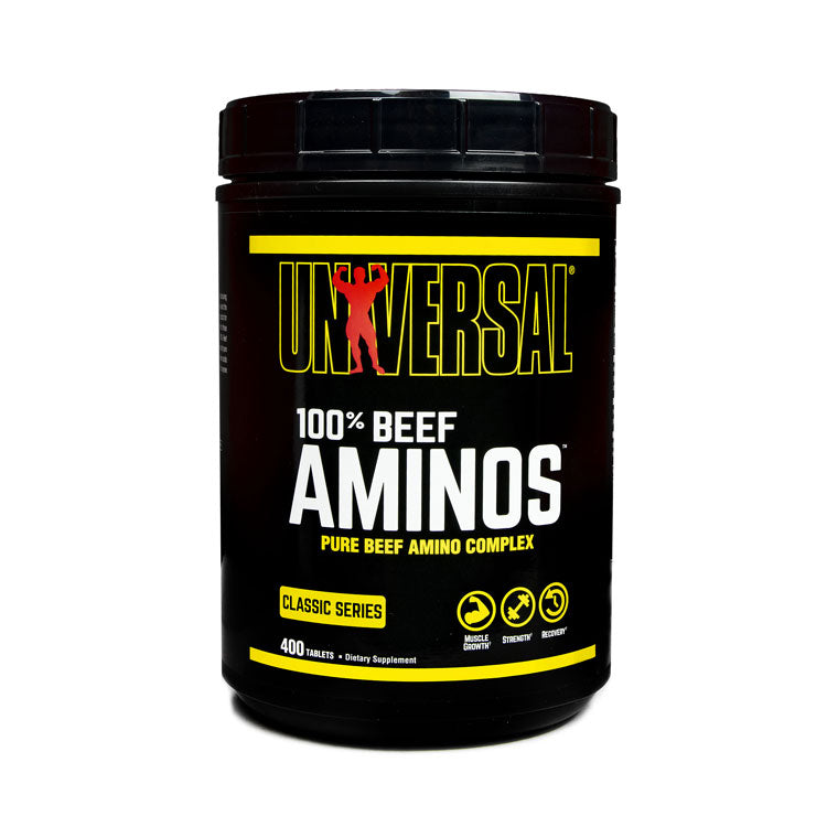 UNIVERSAL NUTRITION 100 % AMINOS, 400 TABLETS.