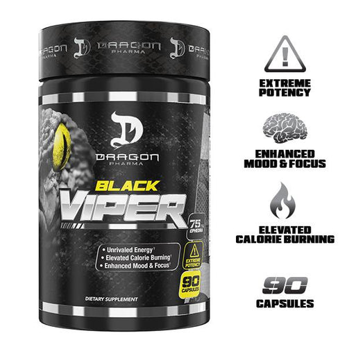 DRAGON PHARMA BLACK VIPER , 90 CAPSULES.(NEW)