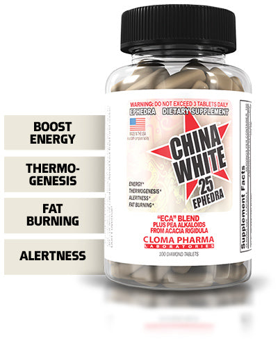 CLOMA PHARMA CHINA WHITE ,100 CAPSULES.