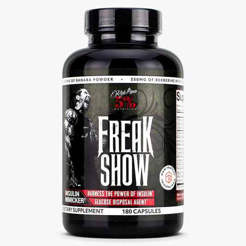RICH PIANA 5% NUTRITION FREAK SHOW, 180 CAPSULES.