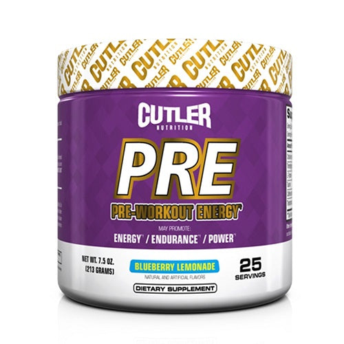 CUTLER NUTRITION PRE 25 SERVINGS.