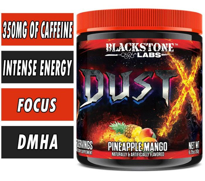BLACKSTONE LABS DUST X PRE-WORKOUT, 25 SERVINGS.