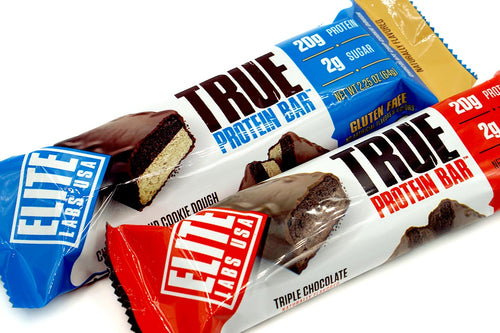 Elite Labs USA True Protein Bar, Pack of 12 Bars.