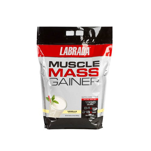 LABRADA MUSCLE MASS GAINER, 12 LBS.(Made in USA version)