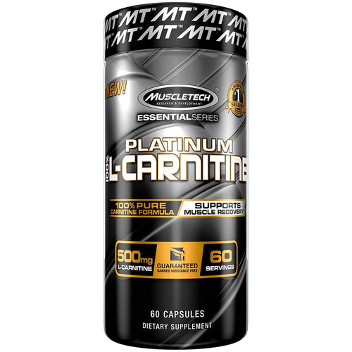 MUSCLETECH PLATINUM 100% L-CARNITINE (60 CAPS)