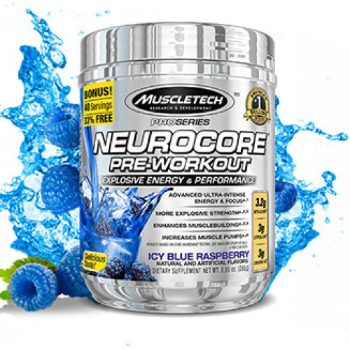 MUSCLETECH PROSERIES NEUROCORE PREWORKOUT , 40 SERVINGS.