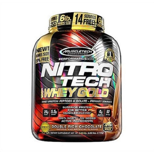 MUSCLETECH, NITROTECH WHEY GOLD,5.5 LBS.