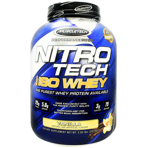Muscletech Performance Series Nitrotech 100% iso whey, 5.02lbs