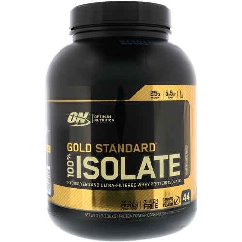 ON (OPTIMUM NUTRITION) GOLD STANDARD 100% ISOLATE PROTEIN, 3 LBS.