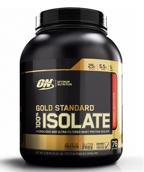 ON (OPTIMUM NUTRITION) GOLD STANDARD 100% ISOLATE PROTEIN, 5 LBS(76 servings).