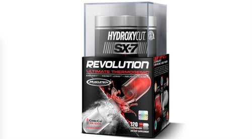 MUSCLETECH HYDROXYCUT SX-7 REVOLUTION ULTIMATE THERMOGENIC ,120 CAPSULES (AT CLEARANCE PRICE)