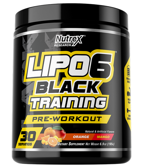 NUTREX LIPO6 BLACK TRAINING, 30 SERVING.