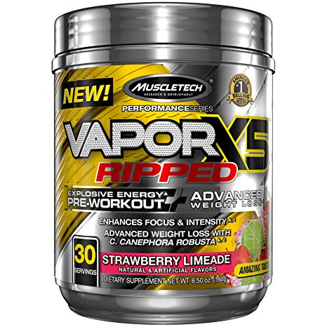 MUSCLETECH VAPORX5 RIPPED 30 SERVINGs