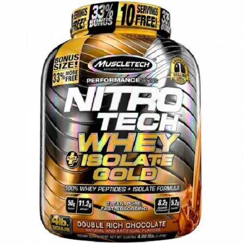 MUSCLETECH NITROTECH WHEY +ISOLATE GOLD (4 LBS)