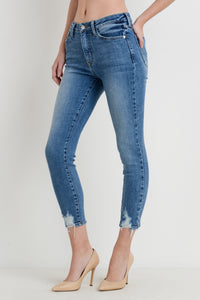 Medium Wash Hem Bite Skinny