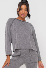 Ribbed Inside Out Pullover