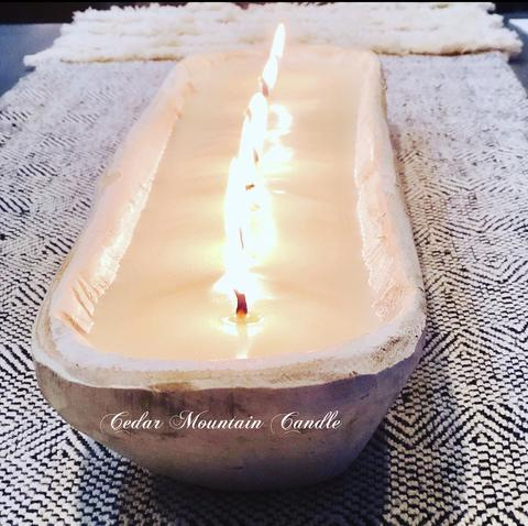 7 Wick Dough Bowl Candle