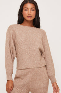 Toffee Ribbed Pullover