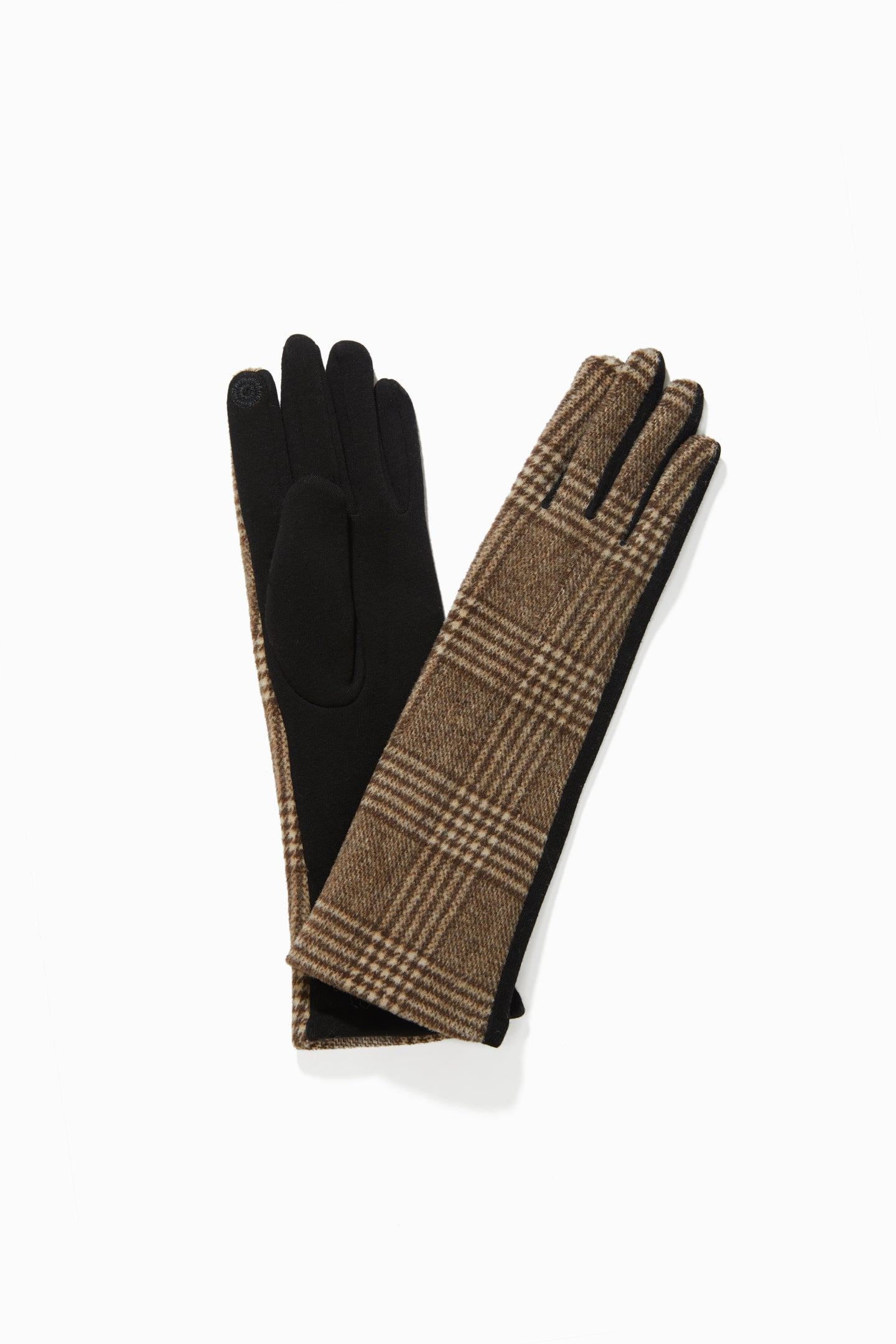 Glen Checker Extra Long Gloves
