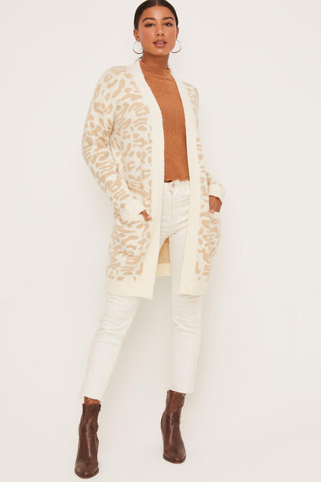 Animal Print Neutral Cardi