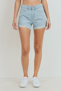High Rise Hem Destroyed Short