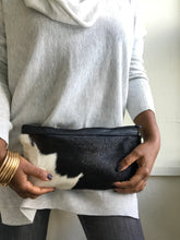 AMI HAIR ON HIDE STATEMENT CLUTCH