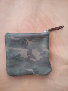CAMO LEATHER POUCH/ HIGH