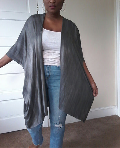 GREY MAXI DUSTER / SHORT