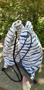 PETITE SLING WATERCOLOR STRIPE / BLUE