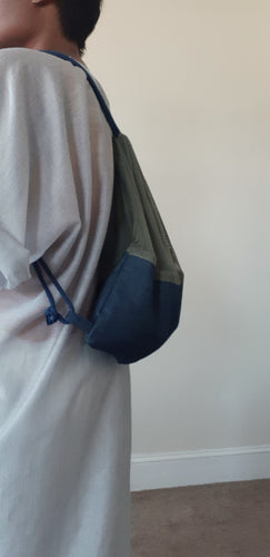 MESH/DENIM BACKPACK
