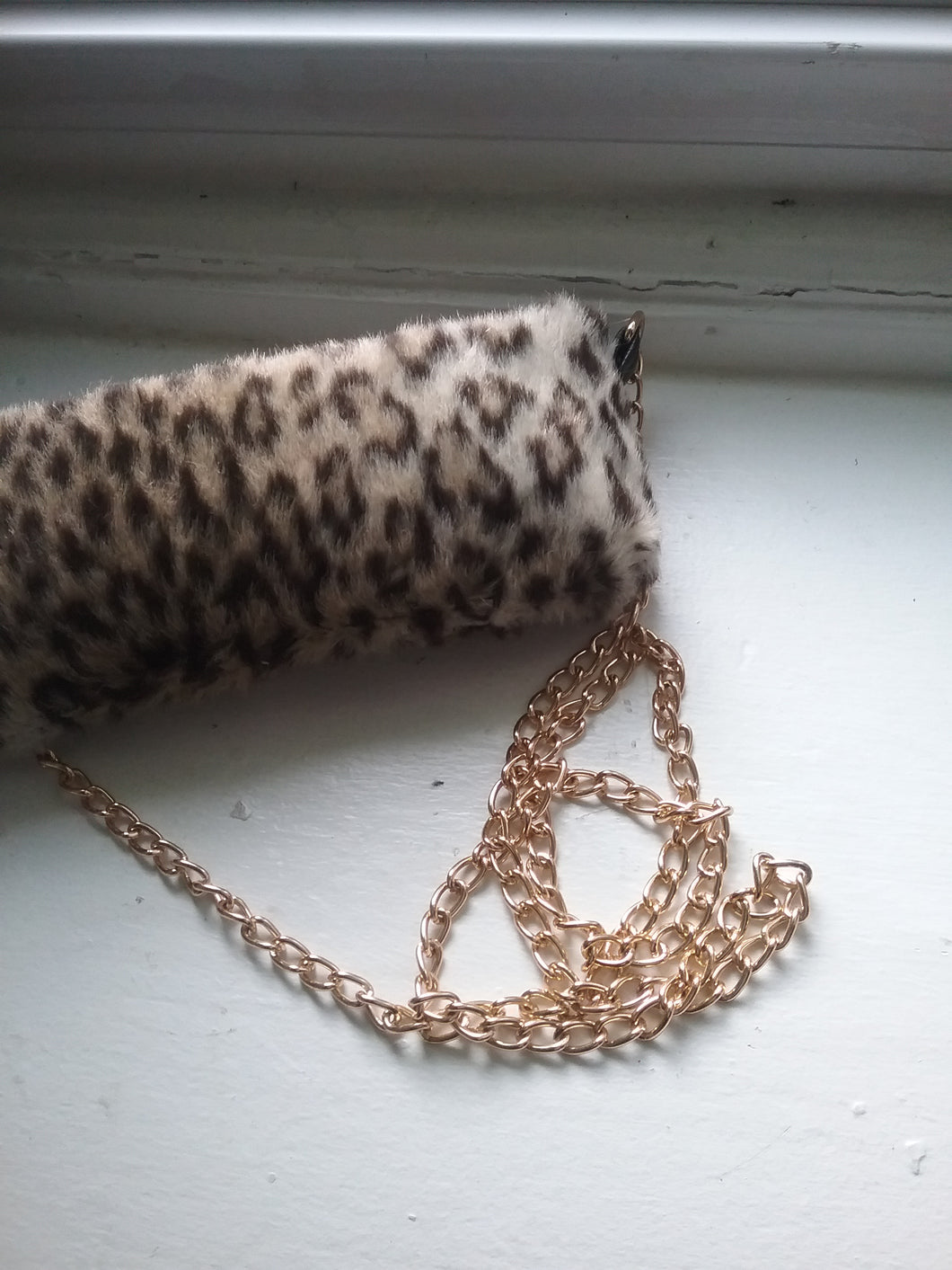SOPHIA CHAIN BAG / LEOPARD