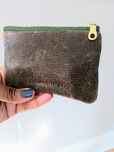 DARK OLIVE LEATHER COIN POUCH/ PETITE