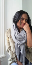 GREY OVERSIZED SCARF