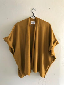 Mustard gold cardigan sweater