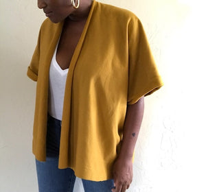Yellow cardigan jacket