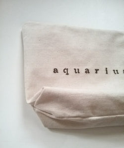 LARGE ZODIAC CANVAS POUCH