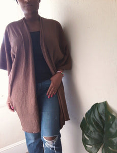 DUSTER JACKET IN BROWN