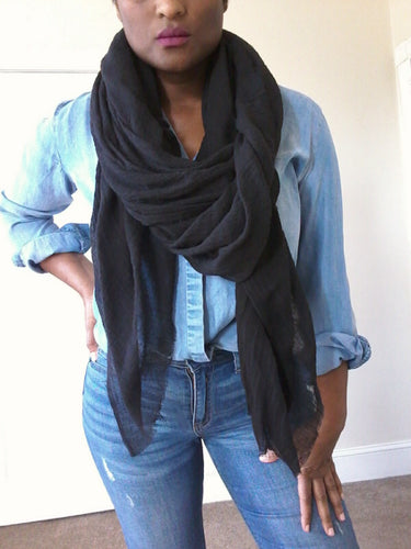 VOYAGER SCARF / BLACK + more colors